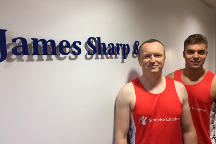 James Sharp duo take on Manchester Half Marathon for children's charity